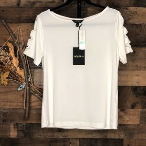 GOLDRAY StitchFix Lalaine cutout sleeve top | M